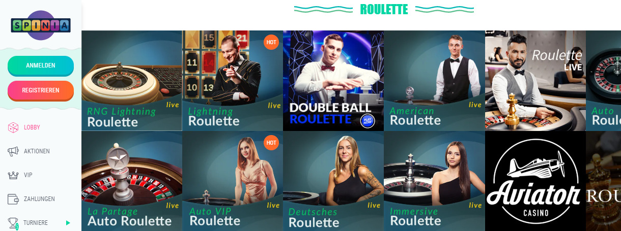Große Auswahl an Roulettes in Online-Casinos